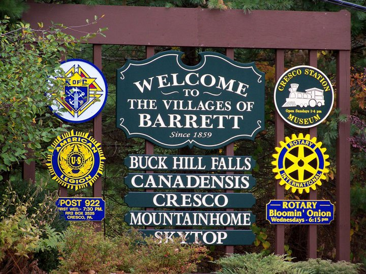 Image of the Welcome to the Villages of Barrett sign