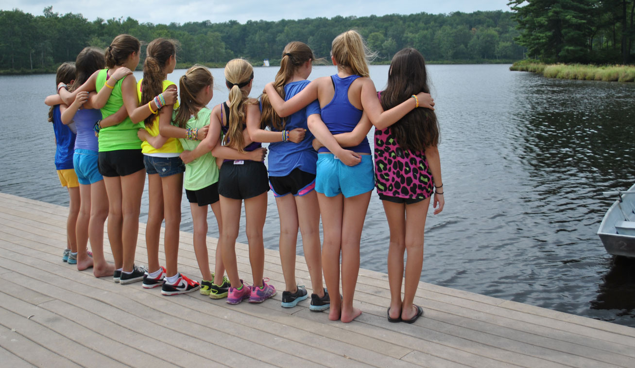 Image of Girls in Front of Lake - Summer Water Sports