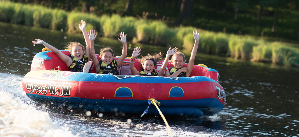 Image of Kids Having Fun in the Lake at Camp Canadensis
