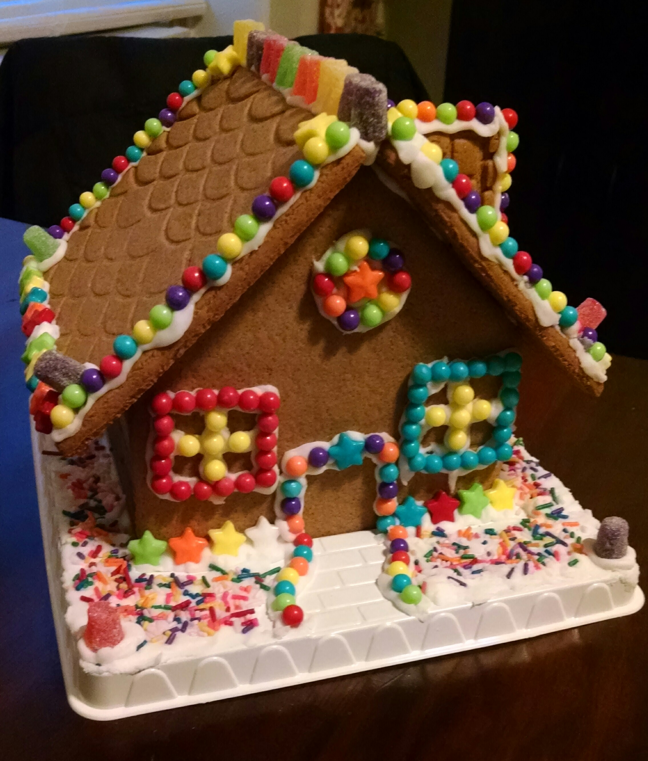 Me, Jaime and Emerson's Winter Holiday Gingerbread House.