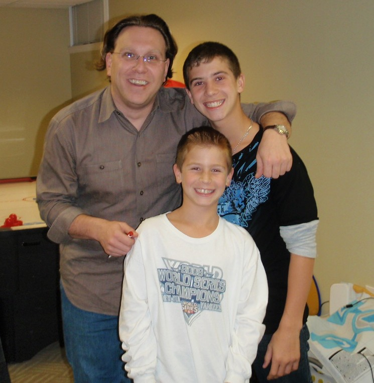 Me with Steven and Jason Haber.