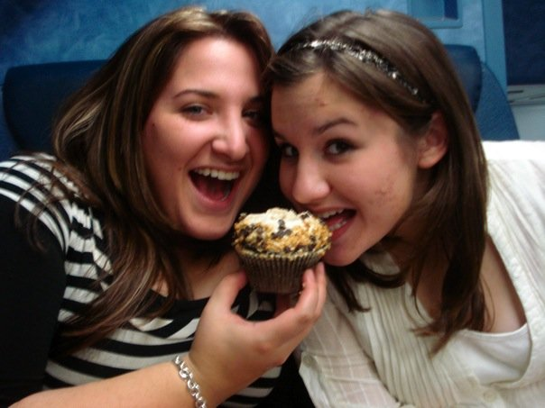 A cupcake for the train ride home...